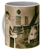 Coca Cola Bottling Line 1950s Coffee Mug