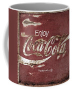 Coca Cola Faded Sign Coffee Mug