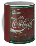 Coca Cola Green Grunge Sign Coffee Mug