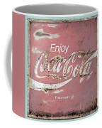 Coca Cola Pastel Grunge Sign Coffee Mug