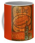 Coca Cola Rusty Sign Coffee Mug