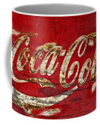 Coca Cola Sign Cracked Paint Coffee Mug