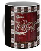 Coca Cola Sign With Little Cokes Border Coffee Mug