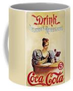 Coca - Cola Vintage Poster - Drink Delicious Refreshing Coffee Mug
