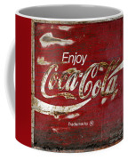 Coca Cola Wood Grunge Sign Coffee Mug