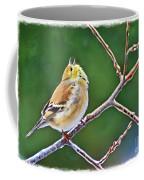 Cock-a-doodle Doo Gold Finch - Digital Paint Coffee Mug