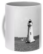 Cockspur Lighthouse - Bw Coffee Mug