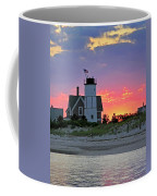 Cocktail Hour At Sandy Neck Lighthouse Coffee Mug by Charles Harden