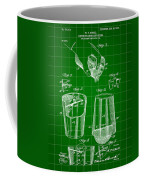 Cocktail Mixer And Strainer Patent 1902 - Green Coffee Mug