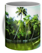 Coconut Trees And Other Plants In A Creek Coffee Mug