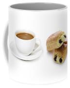 Coffee Cup And Pain Au Chocolat Coffee Mug