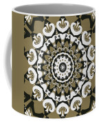 Coffee Flowers 10 Olive Ornate Medallion Coffee Mug