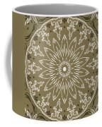 Coffee Flowers 11 Olive Ornate Medallion Coffee Mug