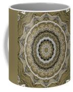 Coffee Flowers 2 Ornate Medallion Olive Coffee Mug