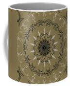 Coffee Flowers 3 Olive Ornate Medallion Coffee Mug