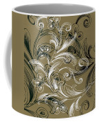 Coffee Flowers 4 Olive Coffee Mug by Angelina Vick