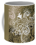 Coffee Flowers 5 Olive Coffee Mug