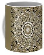 Coffee Flowers 5 Olive Ornate Medallion Coffee Mug