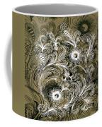 Coffee Flowers 6 Olive Coffee Mug
