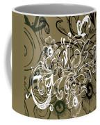 Coffee Flowers 7 Olive Coffee Mug