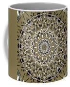 Coffee Flowers 7 Olive Ornate Medallion Coffee Mug