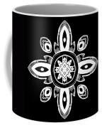 Coffee Flowers 8 Bw Ornate Medallion Coffee Mug
