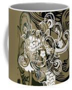 Coffee Flowers 8 Olive Coffee Mug