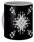 Coffee Flowers 9 Bw Ornate Medallion Coffee Mug