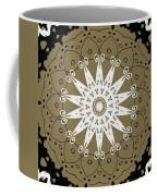 Coffee Flowers 9 Olive Ornate Medallion Coffee Mug