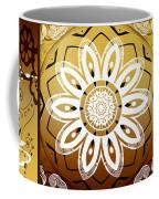 Coffee Flowers Calypso Triptych 2 Horizontal   Coffee Mug