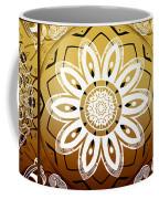 Coffee Flowers Medallion Calypso Triptych 2  Coffee Mug