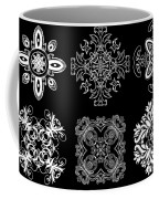 Coffee Flowers Ornate Medallions Bw 6 Peice Collage Coffee Mug