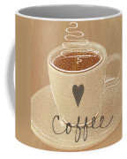 Coffee Love In Mocha Coffee Mug by Linda Woods