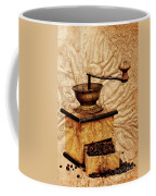Coffee Mill And Beans In Grunge Style Coffee Mug