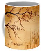 Coffee Painting Cherry Blossoms Coffee Mug by Georgeta  Blanaru