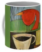 coffee with red bird II Coffee Mug