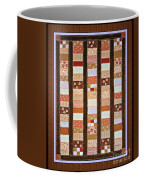 Coin Quilt -  Painting - Brown And White Patches Coffee Mug