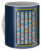 Coin Quilt -  Painting - Multicolors - Borders Coffee Mug