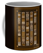 Coin Quilt - Painting - Sepia Patches Coffee Mug