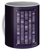 Coin Quilt -quilt Painting - Purple Patches Coffee Mug