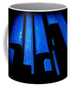 Cold Blue Steel Coffee Mug by Steven Milner