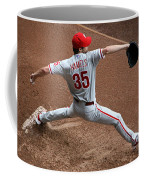 Cole Hamels - Pregame Warmup Coffee Mug by Stephen Stookey