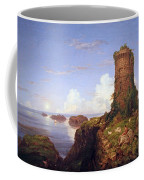 Cole's Italian Coast Scene With Ruined Tower Coffee Mug