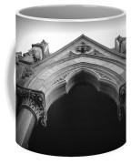 College Hall Entry - Black And White Coffee Mug