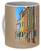 Color Houses In Row Coffee Mug