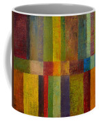 Color Panel Abstract Ll Coffee Mug by Michelle Calkins