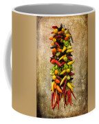 Color Peppers From Spain With Textured Background Dsc01467 Coffee Mug