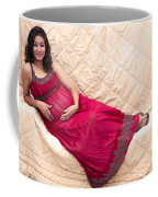 Color Portrait Young Pregnant Spanish Woman Reclining Coffee Mug