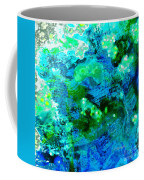 Color Wash Abstract In Blue Coffee Mug