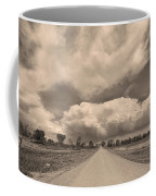 Colorado Country Road Sepia Stormin Skies Coffee Mug